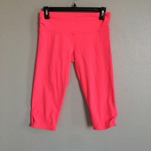 "Lululemon Hot Pink Biker Shorts 15"" inseam size 6"